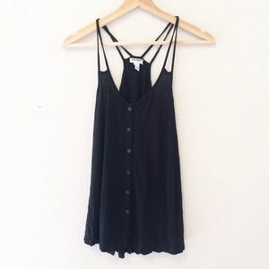 2/$20 Old Navy black Strappy swing tank